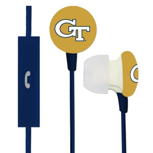 Georgia Tech Yellow Jackets Ignition Earbuds + Microphone