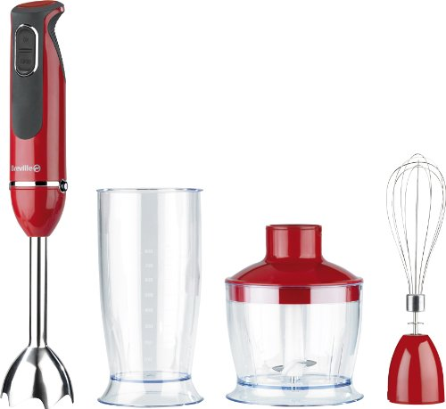 Breville VHB070 3-in-1 600 W Red Hand Blender Set