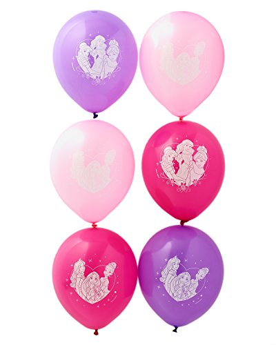 "American Greetings Disney Princess 12 "" Balloons, 6 count, Party Supplies Novelty"