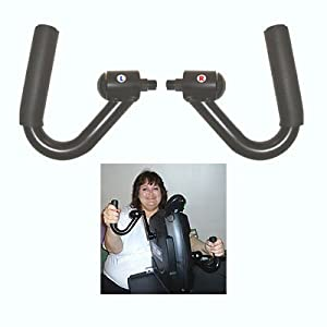 Ergonomic Hand Pedals for the MagneTrainer Pedal Exerciser by MagneTrainer
