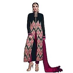 Pari Presents Black Coloured Dress Material