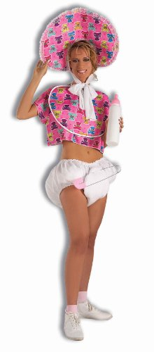 Forum Novelties Big Baby Girl Costume Jumbo Pink Bottle