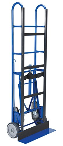 Vestil APPL-1200-66 Steel Appliance Cart with Ratchet, Swivel Rubber Wheels, 1,200 lb. Load Capacity, 66-3/4