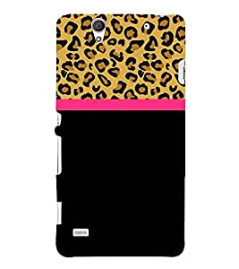 Leopard Pattern Wallpaper Cute Fashion 3D Hard Polycarbonate Designer Back Case Cover for Sony Xperia C4 Dual :: Sony Xperia C4 Dual E5333 E5343 E5363