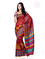 Shariyar Multi Color Art Silk Printed Saree PRG351