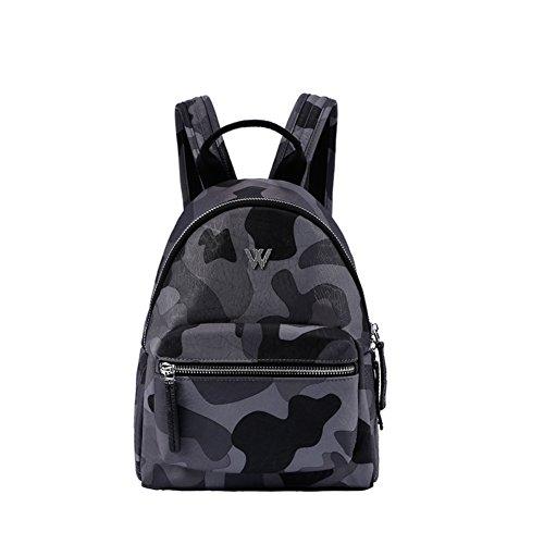 KIU Sac à bandoulière double/ Sac à dos Camo occasionnels /Sacs d'école/Pack de poitrine/Sacs en nylon
