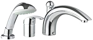 Grohe 32 644 001 Eurosmart Roman Tub Faucet with Personal Hand Shower, StarLight Chrome