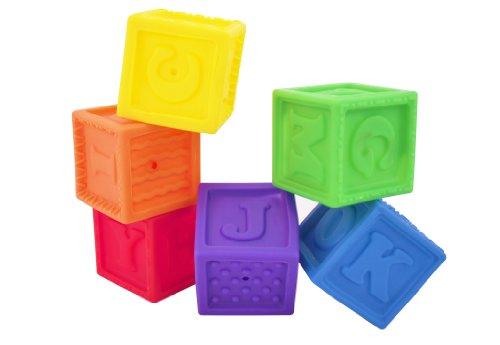 Sassy Developmental Bath Toy, Squirt and Squeak Blocks