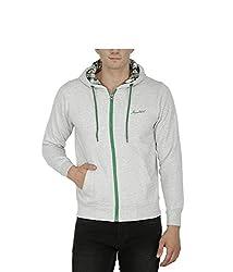 Avas Men's Cotton Sweatshirt (A_52_White Green_X-Large)