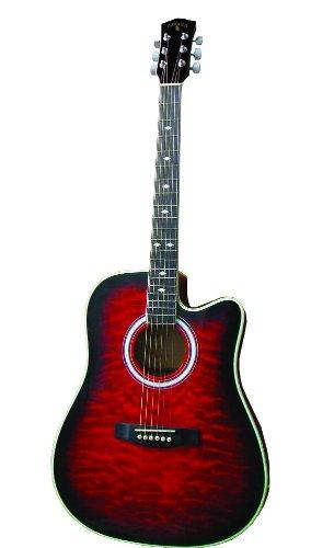 Indiana Scout Elite Idc-Rdq Acoustic-Electric Guitar - Red Sunburst