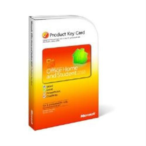 Microsoft Office 2010 Home and Student License, Non-commercial, Product Key Card (PKC), 1 PC (PC)