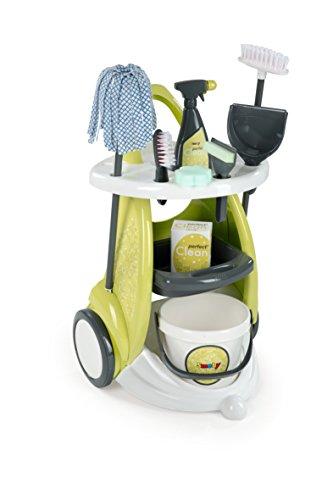 Smoby - 7600024086 - Chariot de nettoyage - 9 Pièces