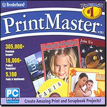 New Broderbund Printmaster 18.1 Create Amazing Print & Scrapbook Projects Fabulous Font Effects