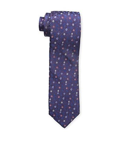Bruno Piattelli Men's Slim Fancy Floral Tie, Purple