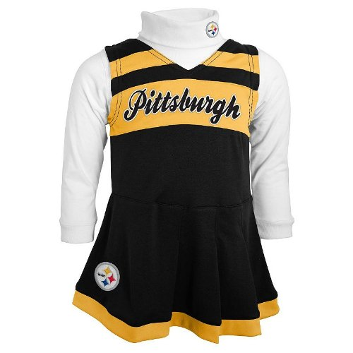 Pittsburgh Steelers Toddler (2T-4T) Turtleneck & Cheerleader Dress Set (2T) at Amazon.com