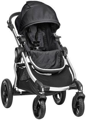 Baby Jogger City Select Silver Frame Stroller, Onyx front-464292