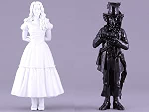 Disney's Tim Burton's Alice in Wonderland Ultra Detail Figure Bundle (includes White Alice & Black Mad Hatter Chess Pieces, Comic-Con Exclusive, Limited to 1,500 pieces each)