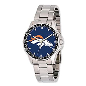 Nfl Officially Licensed Denver Broncos Watch Coach W  Stainless Steel Band by NFL Officially Licensed