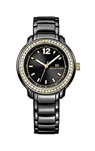 Tommy Hilfiger Callie Women's Quartz Watch with Black Dial Analogue Display and Black Stainless Steel Bracelet 1781495