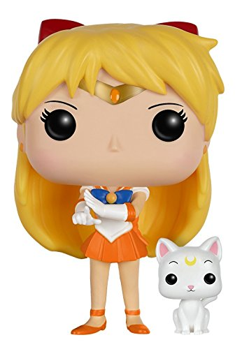 Funko POP Anime: Sailor Moon - Sailor Venus with Artemis Action Figure - Funko Pop! Animation: