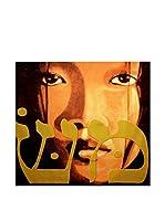 ARTE E TESSUTI by MANIFATTURE COTONIERE Panel Decorativo Pece_Sguardo Negro/Multicolor