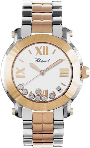Chopard Happy Sport II Ladies Two Tone Diamond Watch 278488-9001