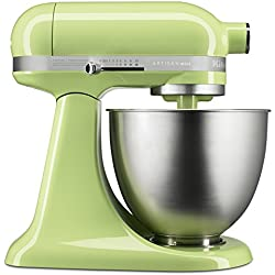 KitchenAid KSM3311XHW Artisan Mini Series Tilt-Head Stand Mixer, Honeydew, 3.5 quart