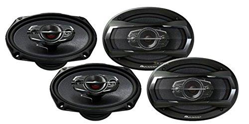 "2 New Pairs Pioneer Ts-A6985R 6X9"" 4 Way 550W Car Audio Speakers 4 Ohm Tweeters"