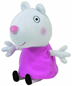 """Peppa Pig Suzy Sheep TY Beanie Baby, plush toys (Approximately 7"""" tall)"""