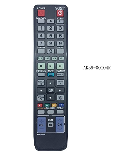 Nuovo sostituito telecomando AK59-00104R Fit per Samsung BD-D7500B BD-P3600A BD-C5500 Blu-ray 3D lettore DVD