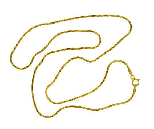 9ct Yellow Gold Round Snake Chain 46cm