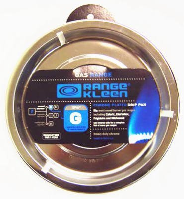 RANGE KLEEN RGP-300 Chrome Range Round Pan/Orange Label (8.26
