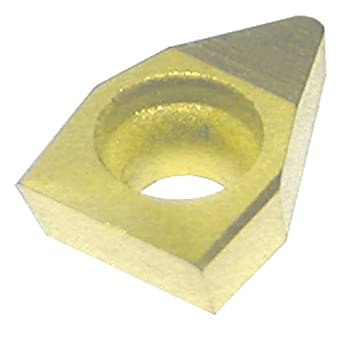"Dorian Tool TEHW Multilayer Coated Woodruff Keyseat Milling Indexable Insert, Roughing Chip Breaker for Ferrous Metals, 5/32"" Insert, 5/64"" Thick (Pack of 10)"