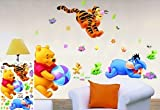 WallStickersUSA Winnie the Pooh Tiger Playing with Ball Wall Sticker and Decal