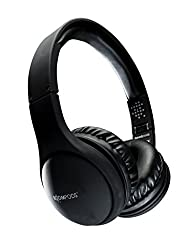 Boompods Bluetooth 4.0 Wireless Headpods Foldable On-Ear Headphones with Built-in Mic Comprises USB Charging Cable