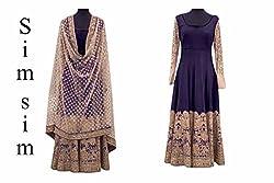 Shree Fashion Women's Georgette Unstitched Dress Materials [D167 (h)]