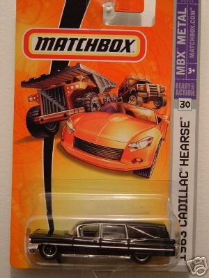 Mattel Matchbox 2007 1:64 Scale Black 1963 Cadillac Hearse Die Cast Car #30