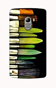 Defunk Messy Paint Brushes Mobile Cover for Lenovo Vibe K4 Note[Matte Finish,Hard case]