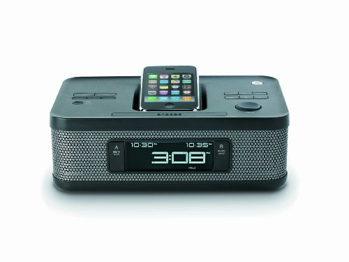 Memorex MI4703PBLK Dual Alarm Clock Radio for iPod and iPhone (Black)