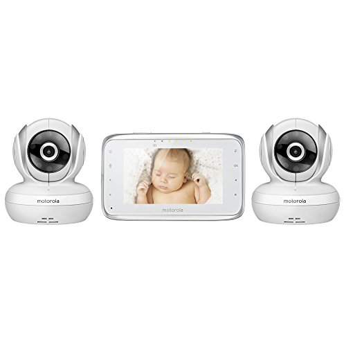 motorola mbp38s 2 digital video baby monitor with 4 3 color lcd screen and 2 cameras with. Black Bedroom Furniture Sets. Home Design Ideas