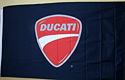 Ducati Black Logo Flag 3\' x 5\' Indoor Outdoor Deluxe Motorcycle Banner