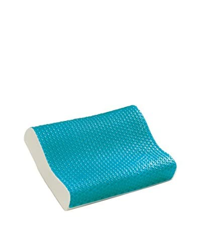 Comfort Revolution Cool Hydraluxe Gel and Memory Foam Pillow, White, Contour