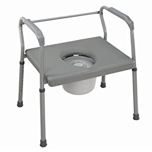 Duro-Med DMI Heavy-Duty Steel Commode with Platform Seat