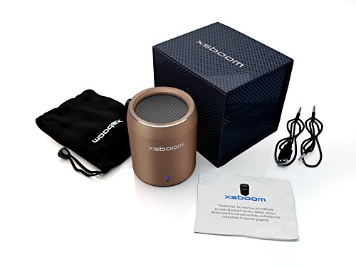 Mini Bluetooth Speaker Xsboom Exceptional Sound | New Arrival 2014 | Wireless Connection To Iphone, Ipad, Ipod, Computer, Macbook, Android | Quality Hands Free Phone Calls | Up To 10Hrs Play Time | So Portable Play It In A Car, Boat, Home, Office, Bicycle