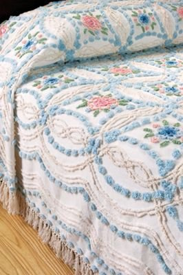 victoria rose chenille bedspread by read more victoria rose chenille ...
