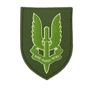 Sas Who Dare Wins Airsoft Moral Patch Pvc