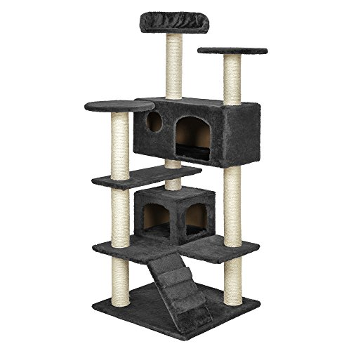 TecTake Tiragraffi per gatto gatti gioco palestra nuovo grigio