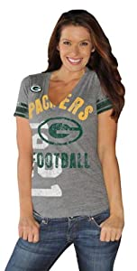 Green Bay Packers Big Play Ladies V-Neck T-Shirt by G-III Sports