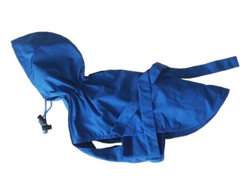 小型 犬 ~ 大型犬 まで対応 ディクロス ドッグ レイン コート マント タイプ (L, ブルー)