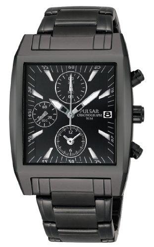 Pulsar Men's Black Dial Watch PF8137X1